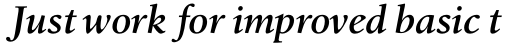 Birka Pro SemiBold Italic sample