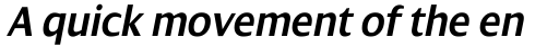 Dialog Pro SemiBold Italic sample