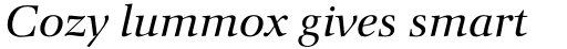 Orion Pro Italic sample