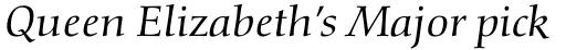 Diotima Classic Pro Italic sample