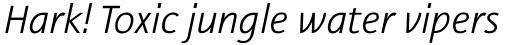 Nautilus Monoline Pro Light Italic sample