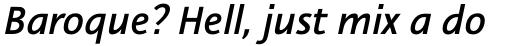 Nautilus Monoline Pro Medium Italic sample