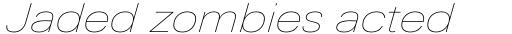 Univers Next Pro 141 Extended UltraLight Italic sample