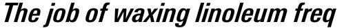 Univers Next Pro 621 Condensed Bold Italic sample