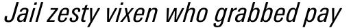 Univers Next Pro 421 Condensed Italic sample