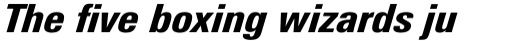 Univers Next Pro 821 Condensed Black Italic sample