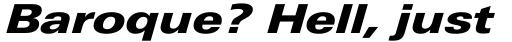 Univers Next Pro 841 Extended Black Italic sample
