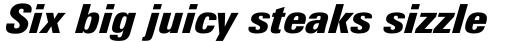 Univers Next Pro 921 Condensed ExtraBlack Italic sample