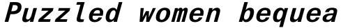 Univers Next Pro 631 Typewriter Bold Italic sample