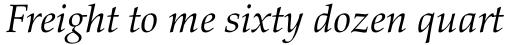 Palatino nova Pro Italic sample