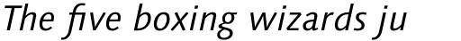 Syntax Next Pro Italic sample