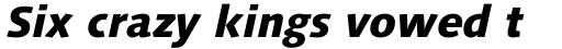 Syntax Next Pro Heavy Italic sample