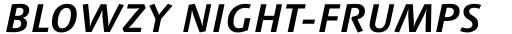 Syntax Next Std Greek Bold Italic sample