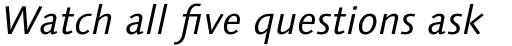 Syntax Next Std Cyrillic Italic sample
