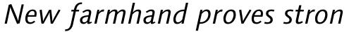 Syntax Next Paneuropean W1G Italic sample