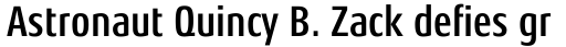 Aeonis Pro Condensed Bold sample