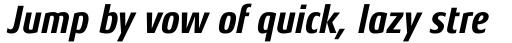 Aeonis Pro Condensed Heavy Italic sample