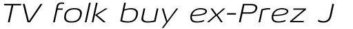 Aeonis Pro Extended Light Italic sample