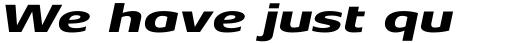 Aeonis Pro Extended Heavy Italic sample