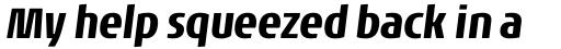 Noa Pro Condensed Bold Oblique sample
