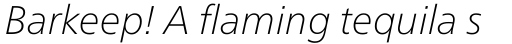 Neue Frutiger Pro Thin Italic sample