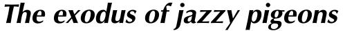 Optima Pro Cyrillic Bold Oblique sample