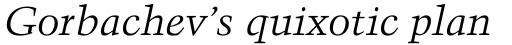 Trump Mediaeval Pro Cyrillic Italic sample