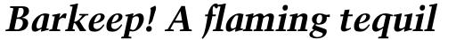 Trump Mediaeval Pro Cyrillic Bold Italic sample