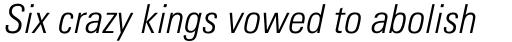 Univers Pro Cyrillic 47 Condensed Light Oblique sample