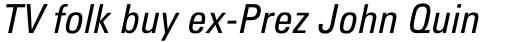 Univers Pro Cyrillic 57 Condensed Oblique sample