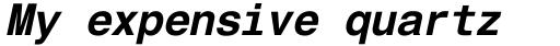 Helvetica Monospaced PanEuropean W1G Bold Italic sample