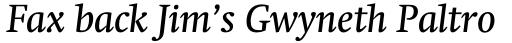 Neue Swift Pro Book Italic sample