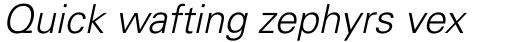 Univers Pro Cyrillic 45 Light Oblique sample