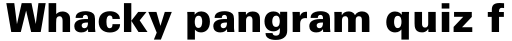Univers Pro Cyrillic 75 Black sample