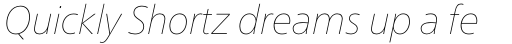 Neue Frutiger Pro Cyrillic UltraLight Italic sample