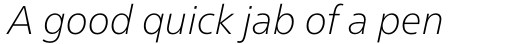 Neue Frutiger Pro Cyrillic Thin Italic sample