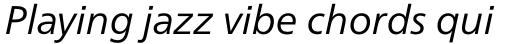 Neue Frutiger Pro Cyrillic Book Italic sample