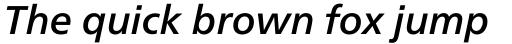 Neue Frutiger Pro Cyrillic Medium Italic sample