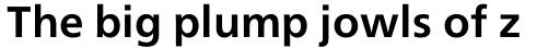 Neue Frutiger Pro Cyrillic Bold sample