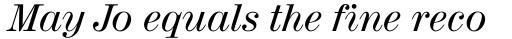 Madison Antiqua Pro Italic sample