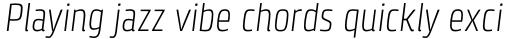 Klint Std Light Condensed Italic sample