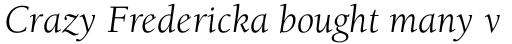 ITC Berkeley Old Style Book Italic sample