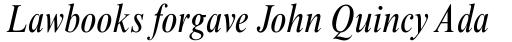 Times New Roman Condensed Italic sample