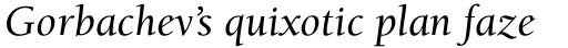 ITC Berkeley Old Style Medium Italic sample