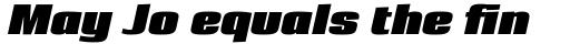 Loft Bold Italic sample