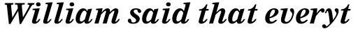 Nimrod WGL Bold Italic sample