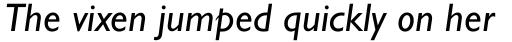 Gill Sans WGL Italic sample