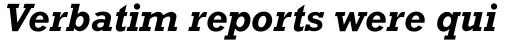 Rockwell WGL Bold Italic sample