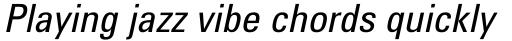 Utah WGL Condensed Italic sample