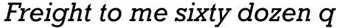Rockwell WGL Italic sample